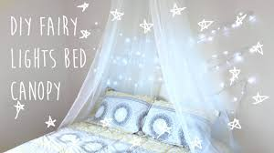 Diy Canopy Bed With Lights Diy Bed Canopy With Lights Pinterest Inspired