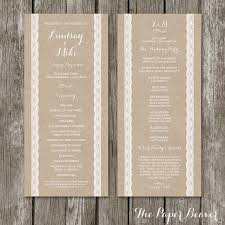 sle wedding program template 207 best wedding ideas images on marriage wedding