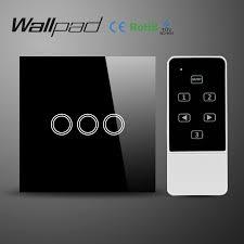 touch screen wall light switch wallpad uk standard smart home black touch screen light switch with