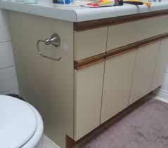 can i use chalk paint on laminate kitchen cabinets bathroom update how to paint laminate cabinets the