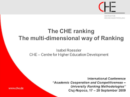 che ranking the che ranking the multi dimensional way of ranking