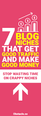 blog niches that get good traffic and make good money
