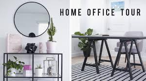 home office room tour desk decor 2017 ann le youtube