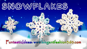 rainbow loom snowflake 2d charms how to loom bands