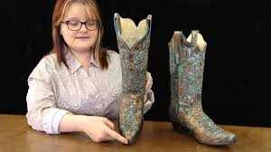 womens corral boots size 12 corral boots bronze turquoise glitter inlay boots wear at