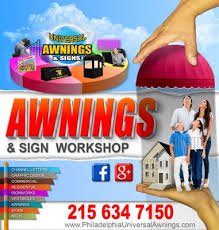 Signs And Awnings Universal Awnings U0026 Signs Printing Services 3119 Boudinot St