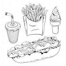 coloring pages of food 100 ideas junk food coloring pages on gerardduchemann
