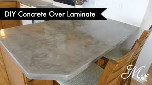 Diy Laminate Flooring On Concrete Diy Concrete Over Laminate Countertops Using Feather Finish Youtube