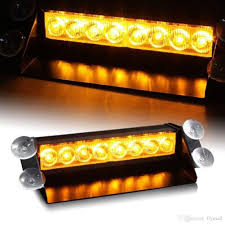 8 led high power strobe lights with suction cups fireman