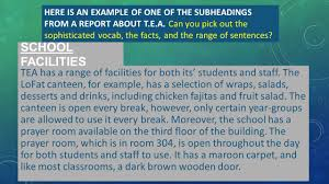 how to write a paper with subheadings how to write a formal report ppt download here is an example of one of the subheadings from a report about t e