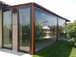 verande in plastica chiusure e coperture per esterni in pvc scorrevoli e pieghevoli