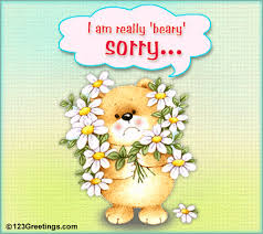 i m beary sorry free sorry ecards greeting cards 123 greetings