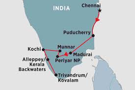 South India Map by Essence Of South India India Tours Peregrine Adventures Au