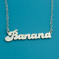 letter plate necklace images Banana style custom name necklace cute necklace silver kid jpg