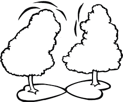 pine tree coloring pages two pine trees coloring for kids trees coloring pages ikids