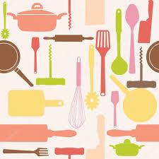 seamless pattern of kitchen tools u2014 stock photo yganko 7800452