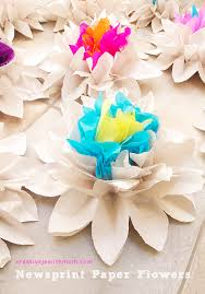 creative jewish mom paper flowers