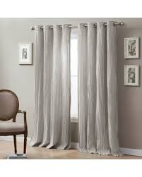 95 Inch Curtain Panels Amazing Deal Linen Crinkle 95 Inch Grommet Top Window Curtain