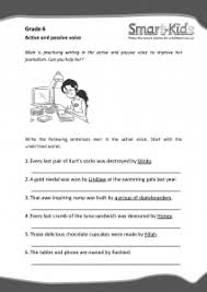 grade 6 english worksheet active and passive voice smartkids