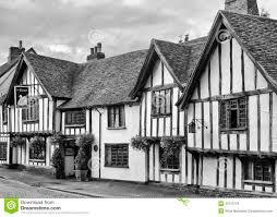 Tudor Houses by Old Half Timbered Tudor Inn Editorial Stock Photo Image 45753118
