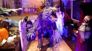 spirit halloween 2015 coupons spirit halloween howling werewolf animated prop youtube