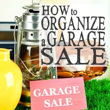 how to organize a garage sale financial goals