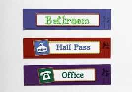 Bathroom Pass Template Potty Talk A Flow Chart A Bathroom Management System And A