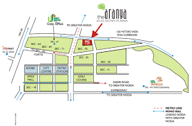 Noida Metro Route Map by Overview The Aranya Unnati Fortune Holdings Ltd At Sector 119
