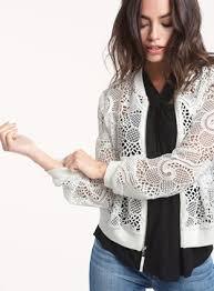 ella moss pixie lace bomber jacket ella moss official store