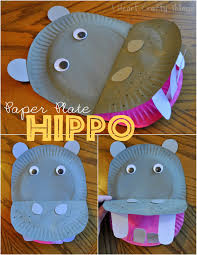 paper plate hippopotamus i heart crafty things