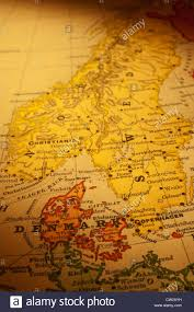 Map Of Denmark Old Map Of Denmark Norway And Sweden Focus Is On Denmark Map Is