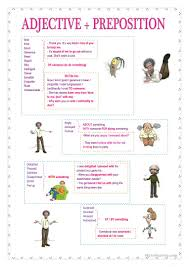13 free esl adjectives and prepositions worksheets