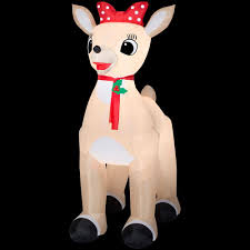 home depot inflatable christmas decorations rudolph 53 15 in d x 84 65 in w x 107 48 in h inflatable