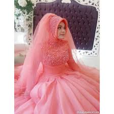 Pink Wedding Dresses With Sleeves Muslim Wedding Dress Picture More Detailed Picture About