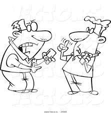 vector of a cartoon techie men having a debate over gadgets