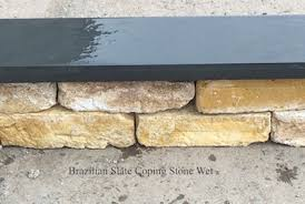 narrow garden wall slate coping stones eazyclad stone cladding