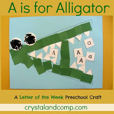 a is for alligator preschool craft with printable alligators