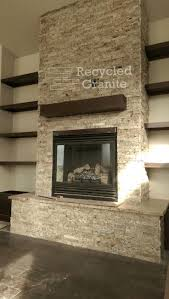 20 best recycled granite split stone fireplaces images on