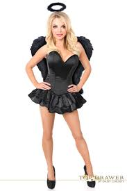 top drawer plus size angel of darkness costume