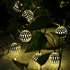 Christmas Light Balls For Trees by Wsfs Sale New Set Of 10 Solar Led Lights Moroccan Globe
