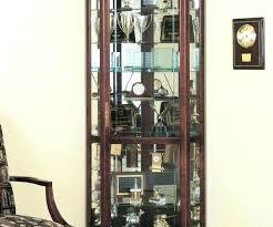 curio cabinet with light corner curio cabinet with light black curio cabinet medium size of