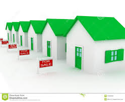 group of houses on sale royalty free stock photo image 13035605