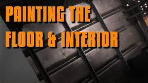 Painting Boat Interior Jon Boat Mods Painting The Floor U0026 Interior Youtube