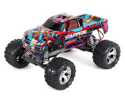 traxxas monster jam rc trucks stampede 1 10 rtr monster truck hawaiian edition by traxxas