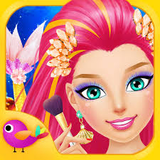 mermaid salon girls makeup dressup makeover games