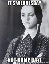 Wednesday Hump Day Meme - wednesday addams hump day meme the random vibez
