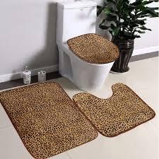 Brown Bathroom Rugs Flooring Lovely Leopard Rug Print Design U2014 Fujisushi Org