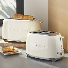 Energy Star Toaster Smeg Cream Retro Toasters Crate And Barrel