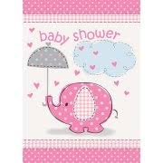 Walmart Baby Shower Decorations Pink Elephant Baby Shower Invitations 8pk Walmart Com