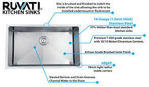 ruvati ruvati rvf1110bn single handle kitchen faucet stainless